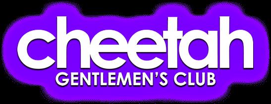 Gentlemen's Purple Logo Glo Club With Cheetah