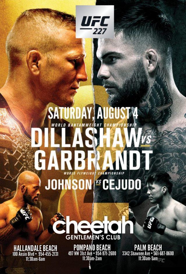 Cheetah UFC 227 Watch Party