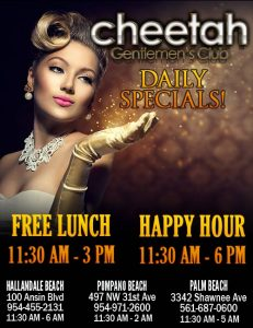 Cheetah free lunch daily!