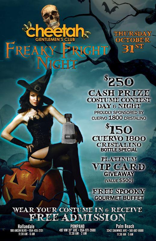 Cheetah Freaky Fright Night Halloween flyer