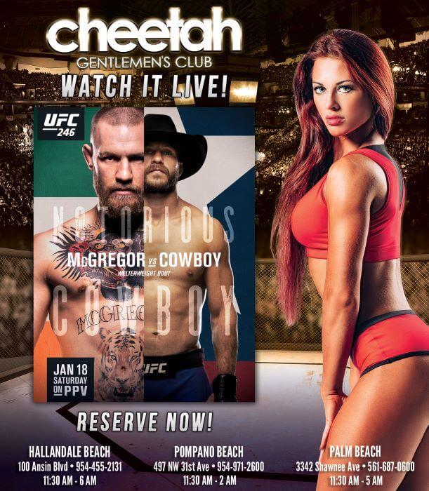 Cheetah UFC 246 Watch Party